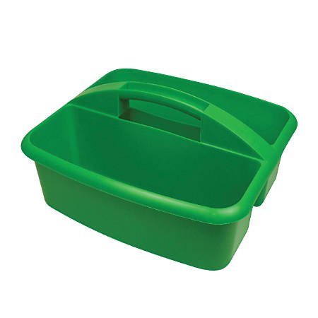 "Romanoff Products Large Utility Caddy, 6 3/4""H x 11 1/4""W x 12 3/4""D, Green, Pack Of 3"