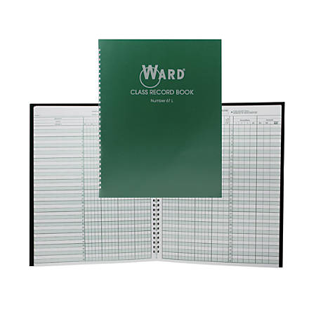 Ward 6-7 Week Class Record Books, Green, Pack Of 4