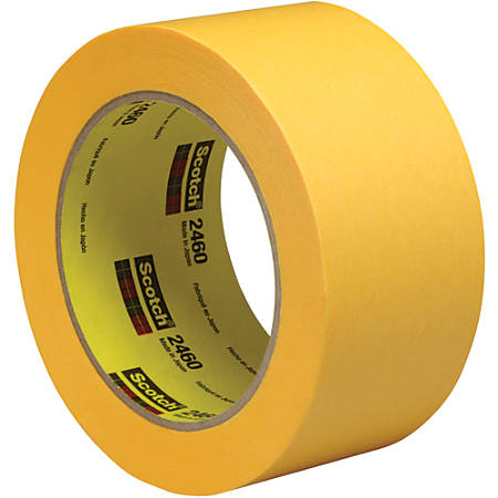 "3M™ 2460 Flatback Tape, 3"" Core, 2"" x 180', Gold, Pack Of 24"