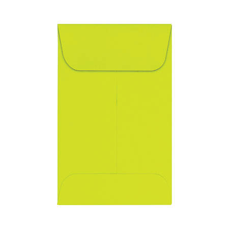 """LUX Coin Envelopes, #1, 2 1/4"""" x 3 1/2"""", Wasabi, Pack Of 250"""