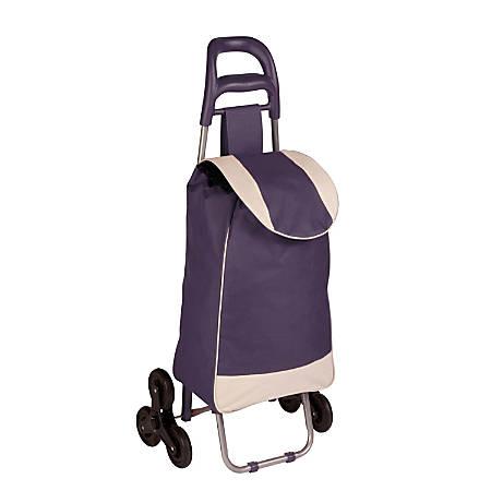 Honey-Can-Do Large Rolling Knapsack CartTri-Wheels, Purple