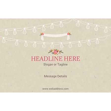 Adhesive Sign, Wedding Celebration , Horizontal