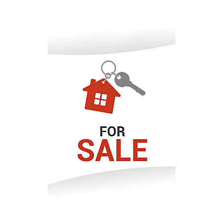 Plastic Sign, For Sale House And Key, Vertical