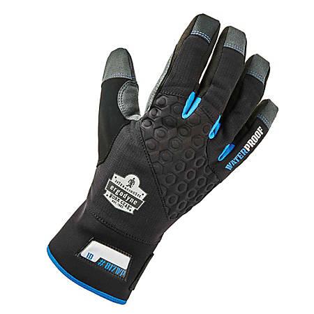 Ergodyne ProFlex 817WP Reinforced Thermal Waterproof Utility Gloves, Large, Black