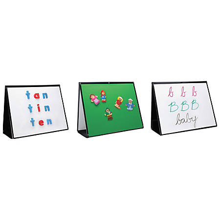 """Learning Resources 3-in-1 Portable Easel, 15"""" x 20"""", Metal, Black"""