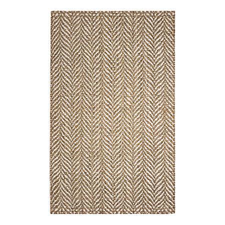 Anji Mountain Sandscape Jute Rug, 5' x 8', Multicolor