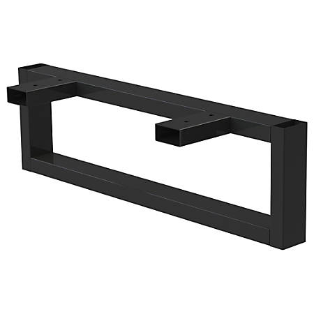 """Lorell® Kingsley Open Desking Low Work Surface O-Leg Support, 23 1/2""""D, Charcoal"""