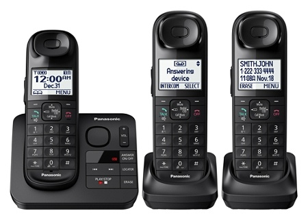 Panasonic Dect 6 0 Expandable Cordless Phone System With Digital Answering Kx Tgl433b By Office Depot Officemax