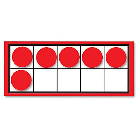 Carson-Dellosa Ten Frames And Counters Curriculum Cut-Outs Sets, Multicolor, Grades Pre-K - 2, Pack Of 44