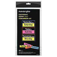 Astrobrights Magnetic Yesterday TodayTomorrow Kit ThemeSubject