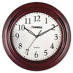 Lorell 13 14 Woodgrain Wall Clock