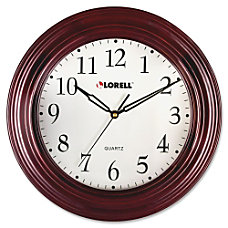 Lorell 13 14 Woodgrain Wall Clock