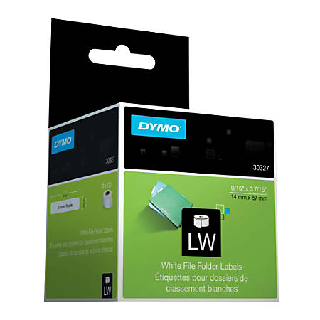 "DYMO® LabelWriter® 30327 File Folder Labels, 3 7/16"" x 9/16"", Pack Of 2"