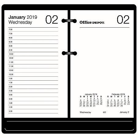 "Office Depot® Brand Daily Desk Calendar Refill, 3 1/2"" x 6"", White, January To December 2019"