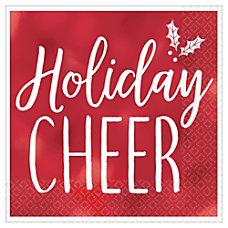 Amscan Christmas Holiday Cheer 2 Ply