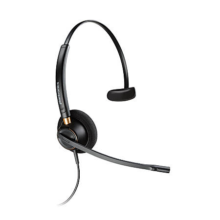 Plantronics® EncorePro Monaural Over-The-Head Headset, HW510, Black, 89433-01