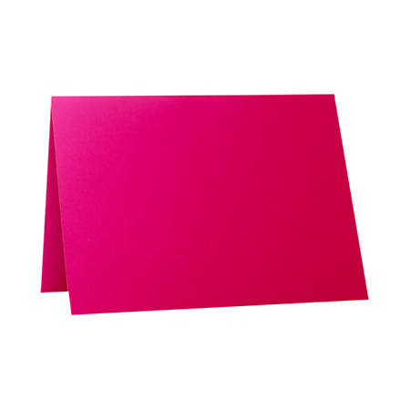 """LUX Folded Cards, A1, 3 1/2"""" x 4 7/8"""", Hottie Pink, Pack Of 500"""