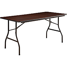 Lorell Laminate Economy Folding Table 5W