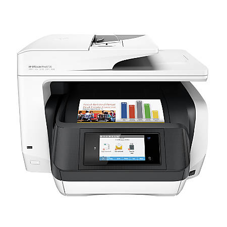 HP OfficeJet Pro 8720 Wireless All-in-One Printer with Mobile Printing - White (M9L75A)