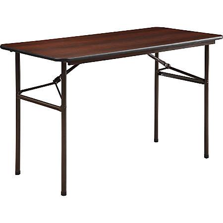 Lorell® Laminate Economy Folding Table, 2'W, Mahogany