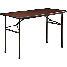 Lorell Laminate Economy Folding Table 2W