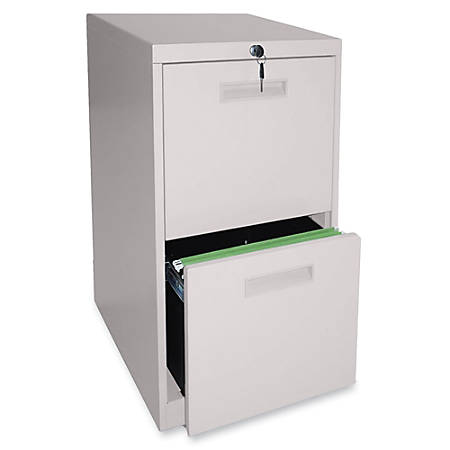 "Lorell® 2-Drawer Mobile Letter-Size Pedestal File Cabinet, 22""D, Putty"