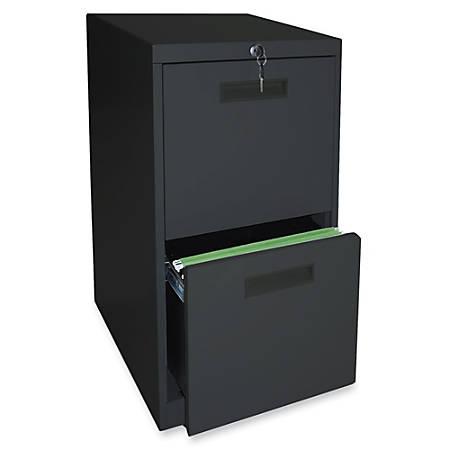 """Lorell® 2-Drawer Mobile Letter-Size Pedestal File Cabinet, 22""""D, Black"""