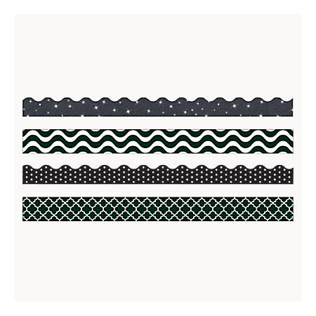 """TREND Terrific Trimmers® And Bolder Borders® Variety Pack, 2 1/4"""" x 39"""", Black/White"""