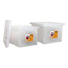Lorell LetterLegal Plastic File Boxes 35