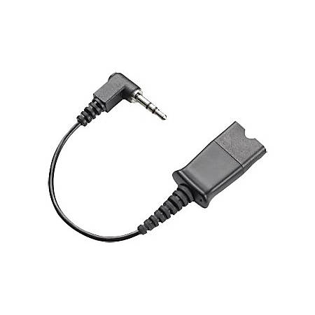 Plantronics Headset Adapter Cable - Mini-phone Male, Quick Disconnect Male