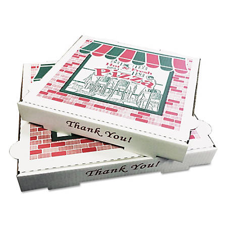 PIZZA Box Takeout Containers, White, Pack Of 50 Containers