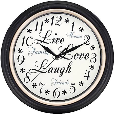 Westclox Wall Clock - Brown/Plastic Case