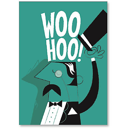 """Viabella Congratulations Greeting Card With Envelope, Woo Hoo, 5"""" x 7"""""""