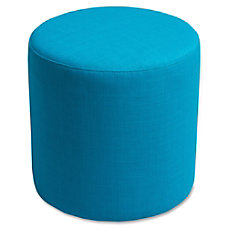 Lorell Collaborative Seating Cylinder Ottoman Fabric