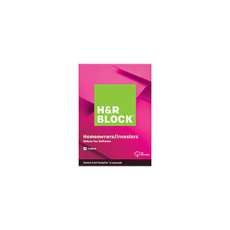 H&R Block® 2019, Deluxe, For PC Download
