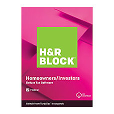 H R Block 2019 Deluxe For