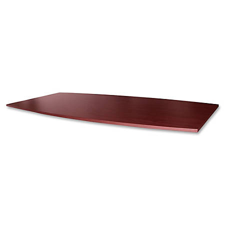 "Lorell® Essentials Conference Boat-Shaped Table Top, 2-Piece, 96""W, Mahogany"