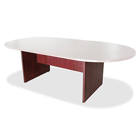 Lorell® 3-Leg Conference Table Base, For 8'W Top, Mahogany