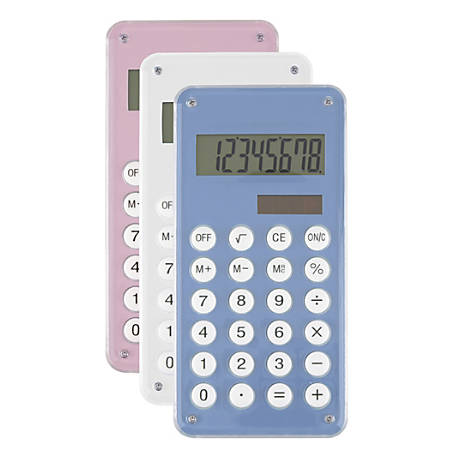 Ativa® Handheld Calculator, Assorted Colors, 641-1N
