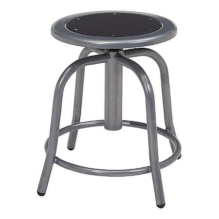 National Public Seating 6800 Steel Designer Swivel Stools, Black/Gray, Set Of 2 Stools