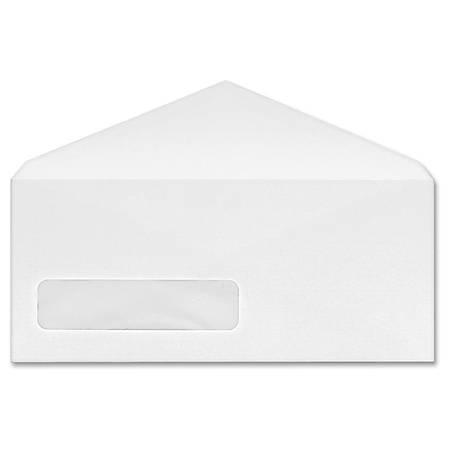 Business Source No. 10 V-Flap Window Envelopes - Business - #10 - 24 lb - Gummed Flap - Wove - 250 / Box - White