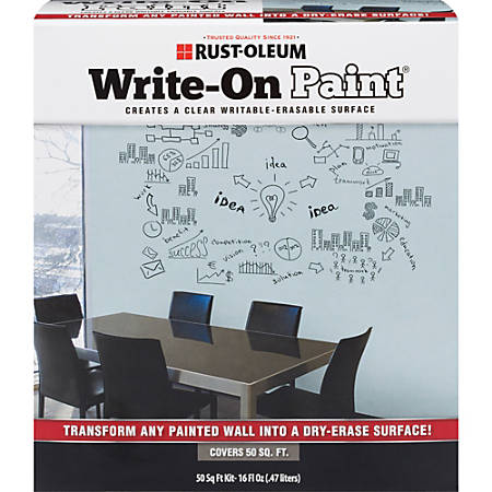 Rust-Oleum Erasable Surface Write-On Paint, 16 Oz, Clear
