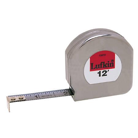 Mezurall® Pocket Measuring Tapes, 1/2 in x 12 ft, 1/16 in; 1/8 in Grad.