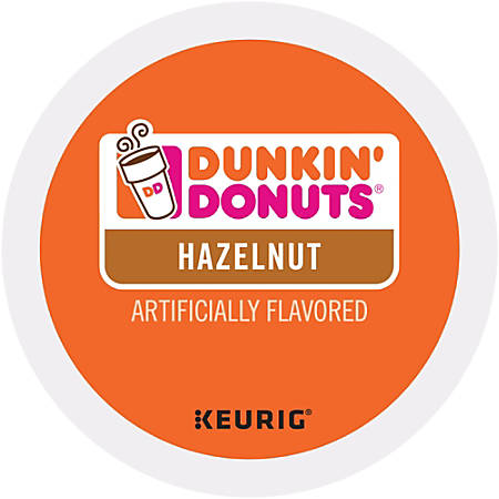 Dunkin' Donuts® Coffee K-Cup® Pods, Hazelnut, 0.4 Oz, Pack Of 24