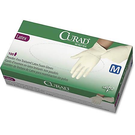 Medline Powder-Free Latex Exam Gloves, X-Small, White, Box Of 100