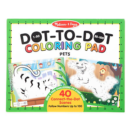 Melissa & Doug Children's Educational Toys, 123 Dot-To-Dot Pets Coloring Pad