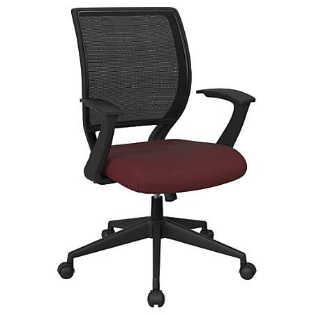 Office Star™ Work Smart Mesh Task Chair, Wine/Black