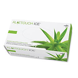 Medline AloeTouch Ice Nitrile Gloves powderfree