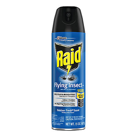 Raid Insect Killer, Flying Insect, 15 Oz, Pack Of 12 Bottles