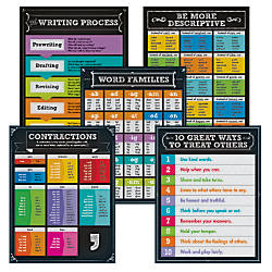 Carson Dellosa Chalkboard Writing Chart Set